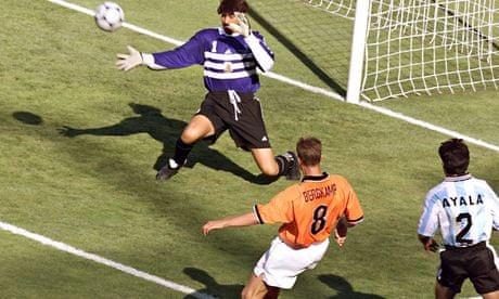 dennis bergkamp 1998 netherlands vs argentina